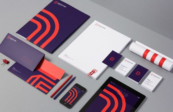 Digitaland by for brands, via Behance