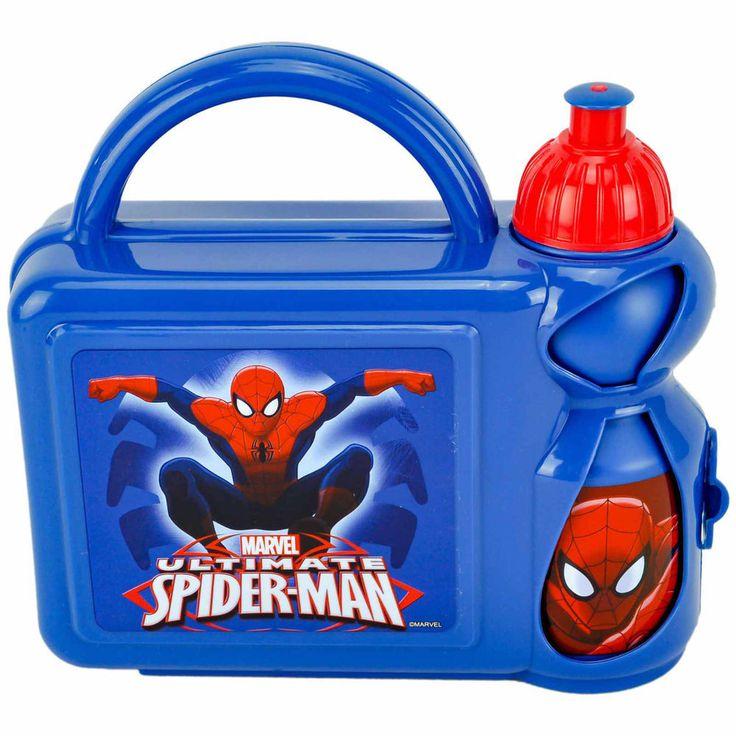 ULTIMATE SPIDERMAN CHILDREN KID HARD CASE LUNCH SCHOOL SANDWICH BOX SPORT BOTTLE in Home, Furniture & DIY, Children's Home & Furniture, Kitchen & Dining | eBay