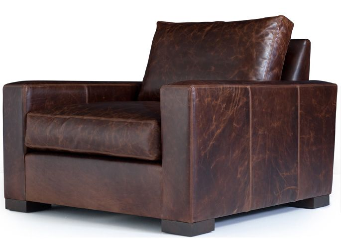 oversized leather chair