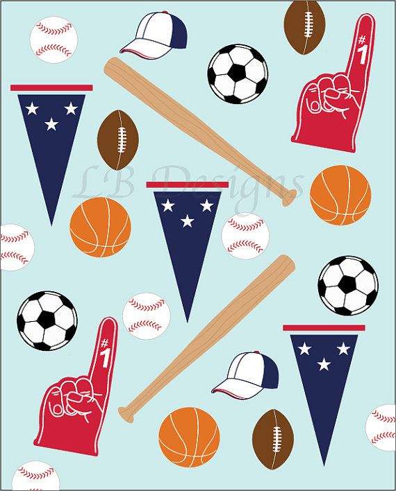 Items Similar To Sport Nursery Decor Baby Blue And Red Baseball Art On Etsy