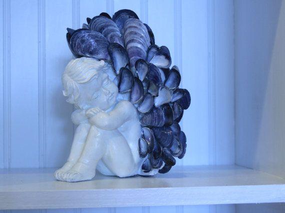 SALE Coastal Shores Blue Mussel Shell Angel