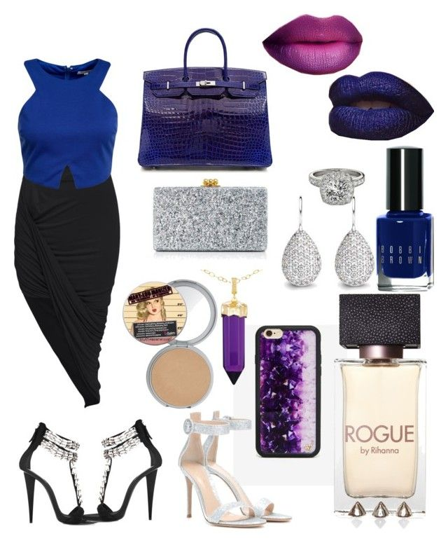 """She's out of this world"" by polynesiangoddess on Polyvore featuring Wildflower, Gianvito Rossi, Giuseppe Zanotti, Hermès, Edie Parker, Bobbi Brown Cosmetics, Allurez, Simone I. Smith and Glamorous"