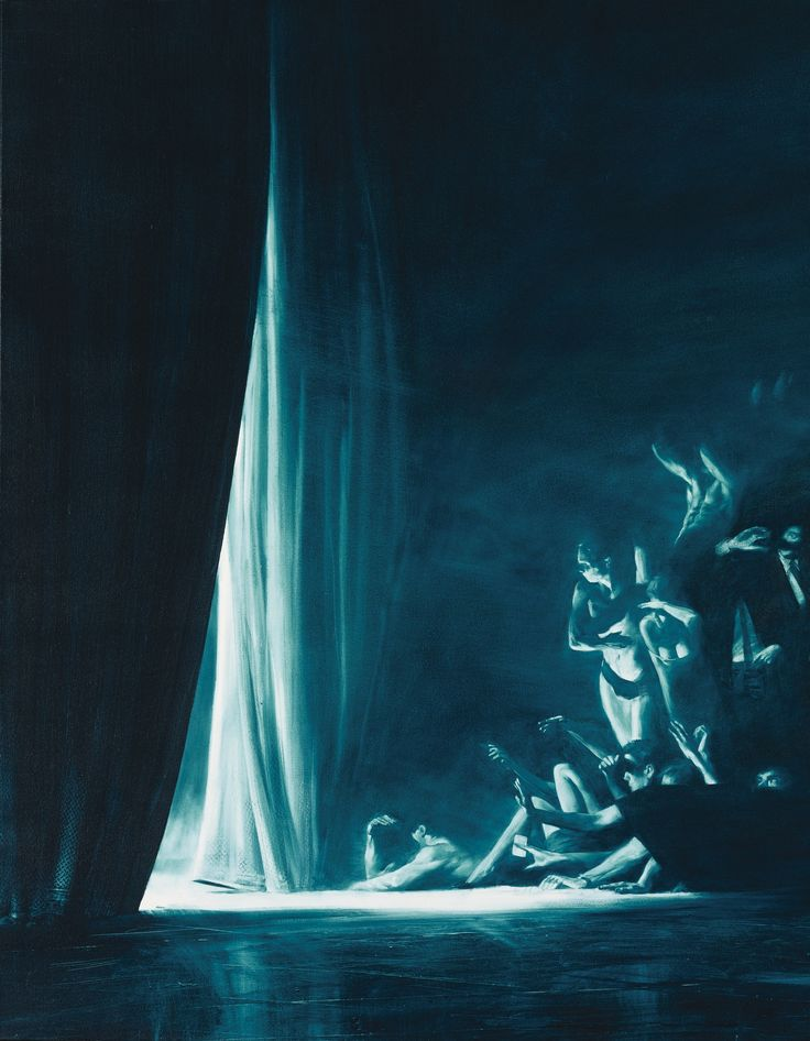 Mark Tansey B.1949 VEIL signed, titled and dated 1987 on the reverse oil on canvas