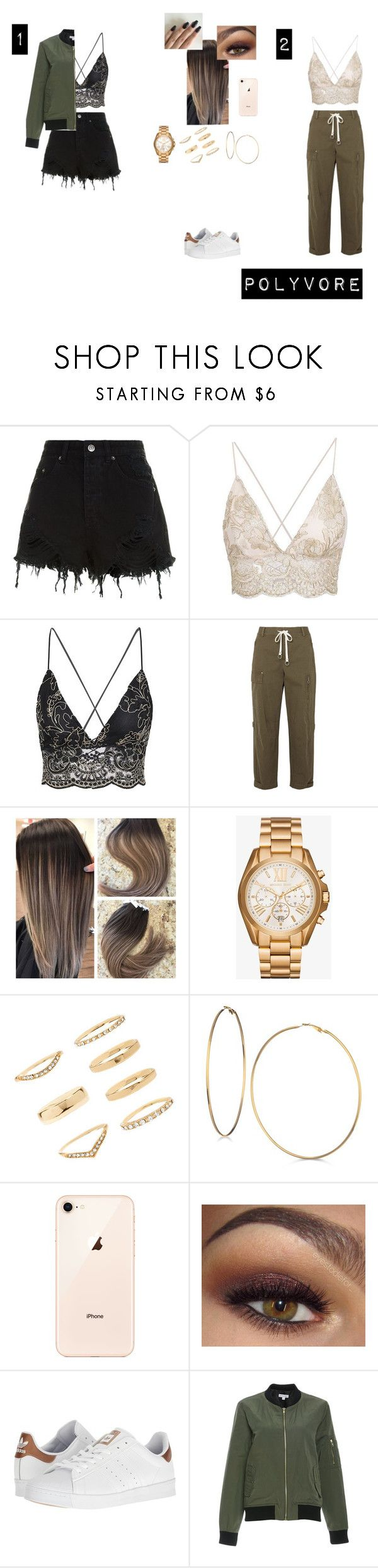 """Sem título #164"" by someoneyouknow000 on Polyvore featuring moda, Ksubi, T By Alexander Wang, Michael Kors, Forever 21, GUESS e adidas"