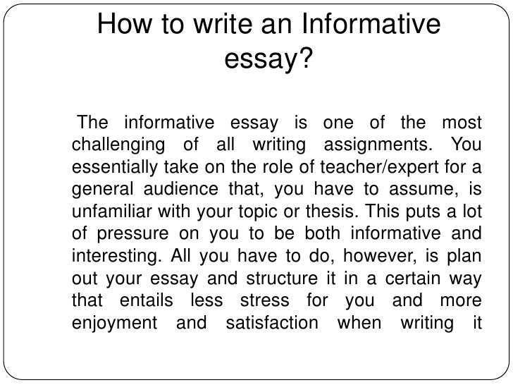 How to start writing an essay