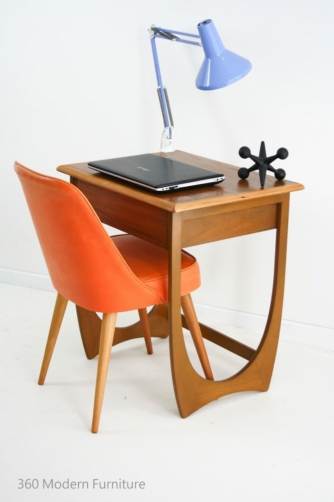 Mid Century Teak Kalmar Desk Hall Table Drawer Console