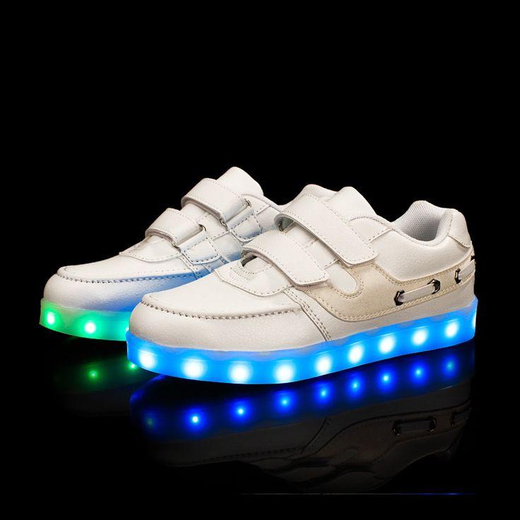 Nouvelle recharge USB éclairage LED chaussures Chaussures enfants Garçon Fille Casual Luminous Anti Skid Bottom enfants Chaussures d sG1UV41