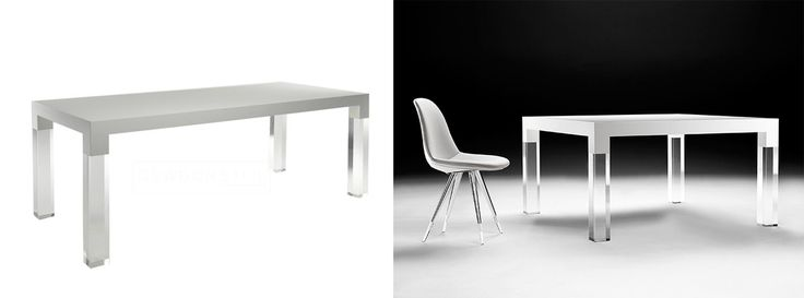 Kubikoff Eettafel Mies Wit White Table