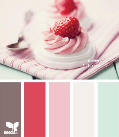 sweet tonesColors Combos, Little Girls, Design Seeds, Room Colors, Girls Room, Colors Palettes, Colors Schemes, Girl Rooms, Accent Wall