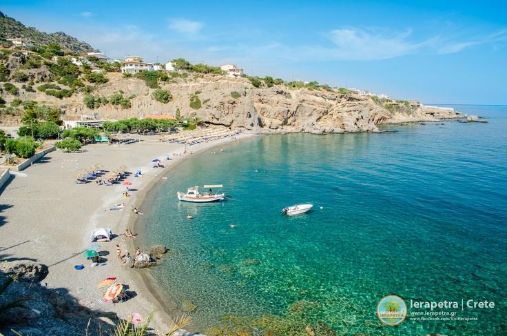 Achlia beach in #Ierapetra. Η παραλία στα Αχλιά (Αγία Γαλήνη) ανατολικά   της Ιεράπετρας    (CC-BY-SA 3.0)