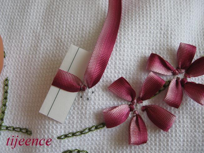 Tutorial ribbon embroidery kurdela nakışı hobilerim