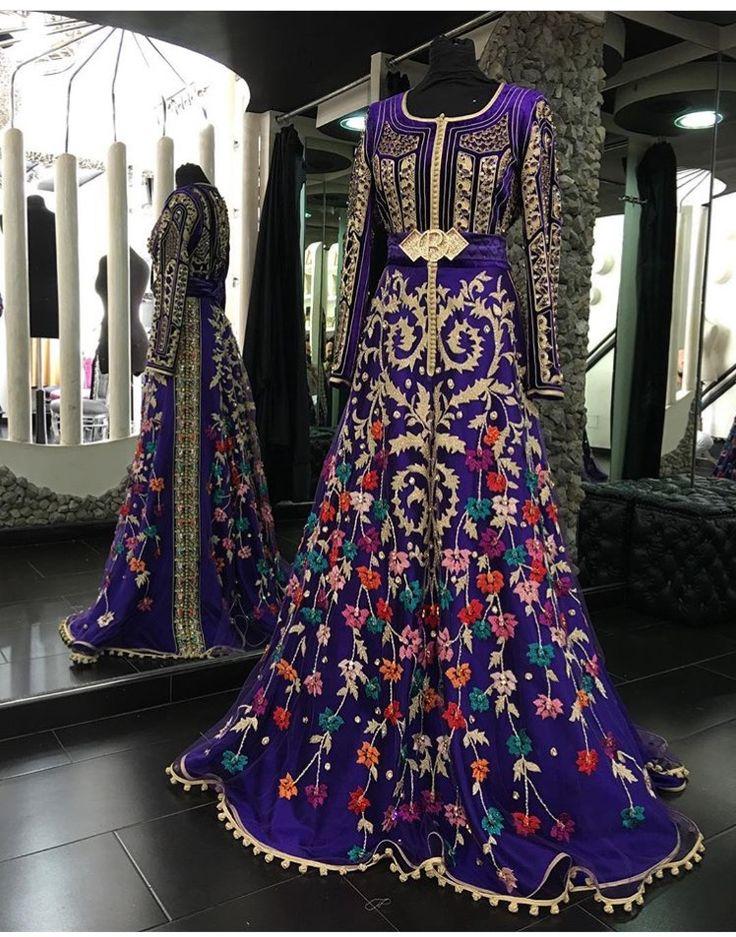 Purple caftan