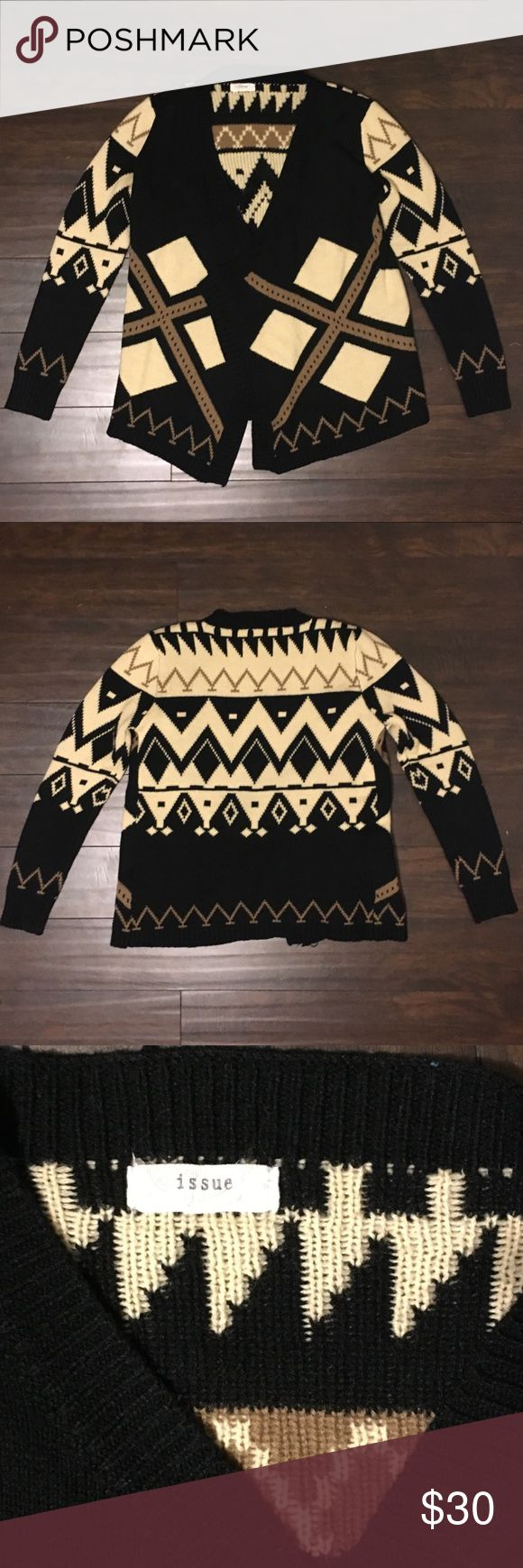 Issue Aztec Cardigan This is an Issue Aztec print cardigan. It is a size S/M and is in great condition. Issue Sweaters Cardigans