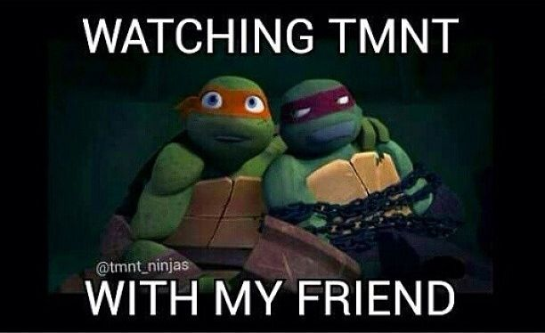 lol I am like the only teenager I know that loves TMNT