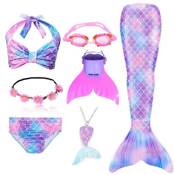 Product SpecificsComponents:TopComponents:ShortsComponents:LeggingsComponents:SkirtsSource Type:Movie & TVGender:GirlsItem Type:SetsCharacters:MermaidSpecial Use:CostumesModel Number:Mermaid tail CostumeMermaid:Mermaid TailCostume:Mermaid Tail CostumeSwimsuit:Mermaid Tail Swimsuit Best Gift for GirlsEvery girl has mermaid princess dream. The best birthday gift for little girl who have a mermaid dream that can make her dream come true! Also, our PrettyGirl's Mermaid Tail Set is very cute and  Girls Mermaid Costume, Mermaid Tail Costume, Girls Mermaid Tail, Mermaid Swim Tail, Mermaid Tails For Kids, Mermaid Kids, Mermaid Swimsuit, Mermaid Swimming, Mermaid Outfit