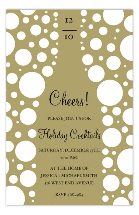 Invitation for New Year's Eve--or Champagne Reception?