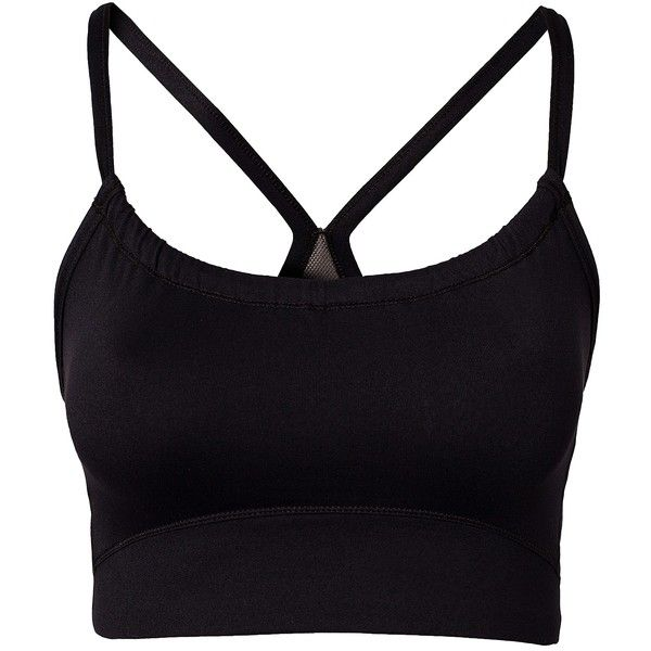 Casall Control Top (8.705 HUF) ❤ liked on Polyvore featuring tops, shirts, crop tops, sports bra, sport bh, sportkläder, sports tops, black crop shirt, racer back crop top and strappy crop top