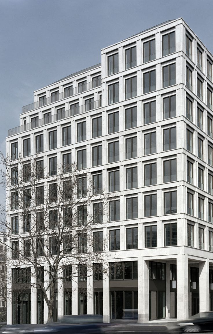 The cosmo hotel and office building in berlin by german for Modern classic building design