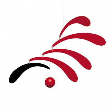 Flowing Rhythm Mobile R715 This black and red mobile is a gre