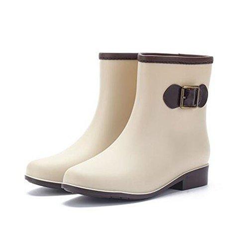Oferta: 9.92€. Comprar Ofertas de Minetom Mujer Casual Moda Botines De Lluvia Festival Botas De Agua Muy Ligera Impermeable Anti-deslizante Arco Zapatos Rain B barato. ¡Mira las ofertas!