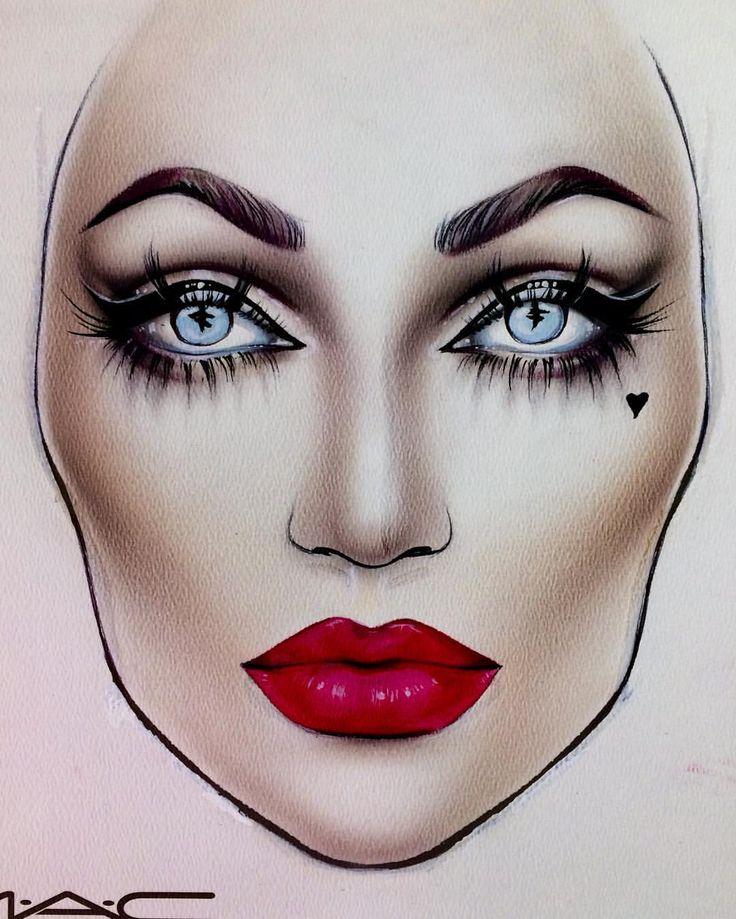 начале рисунок грима на лице карандашом на изо используя его, можно