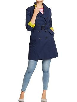 Women's Canvas Trench Coats | Old Navy