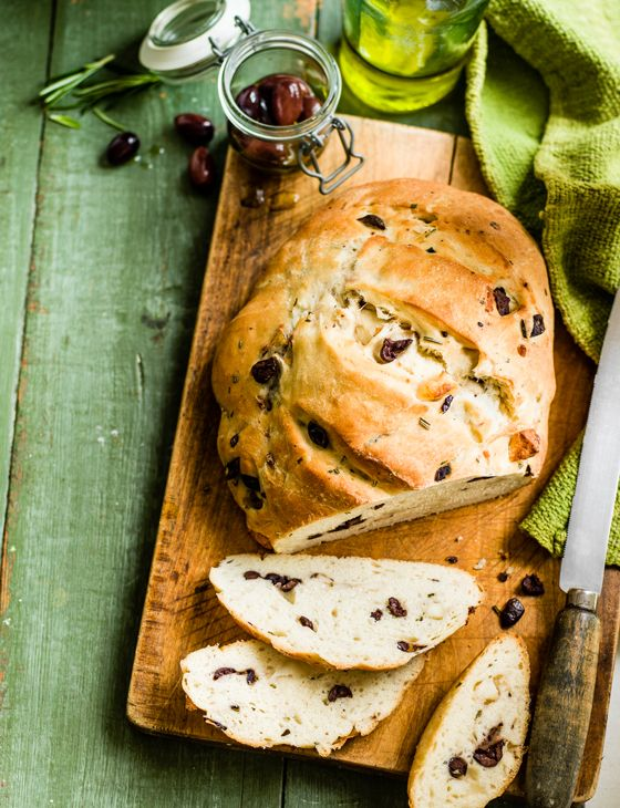 Olive, halloumi and rosemary bread - An easy quick bread to knock up for lunch