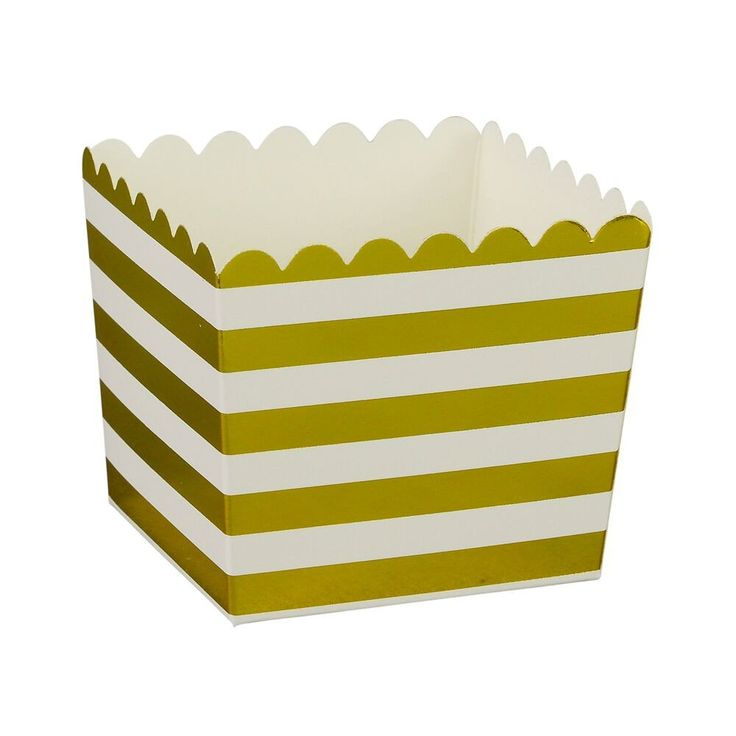Gold Stripe Scallop Favour Boxes (6 Pack) – Lucky Lulu Party Shop
