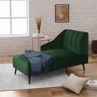 Shop Skyline Furniture Chaise Lounge in Velvet White - N/A - On Sale - Free Shipping Today - Overstock - 10520301