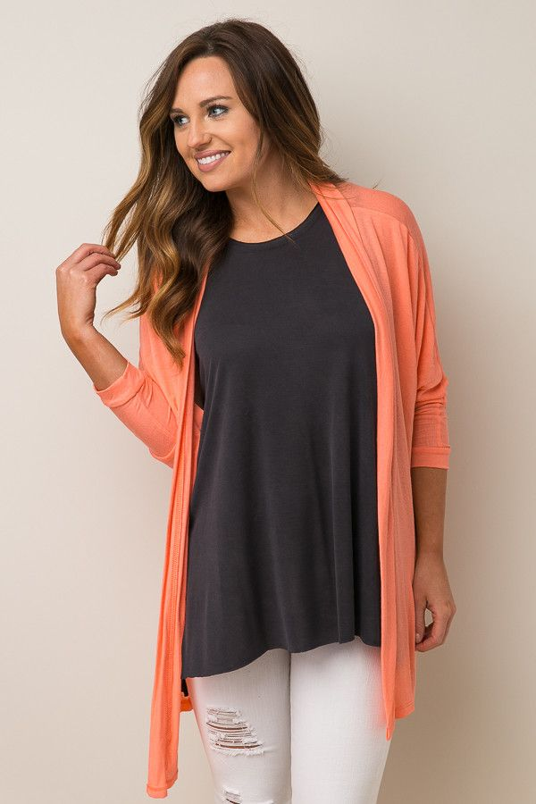 Spring Showers Coral Cardigan