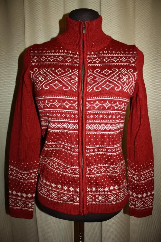 Dale of Norway Wool Cardigan Full Zip Sweater Red White Snowflake Size s Small | eBay