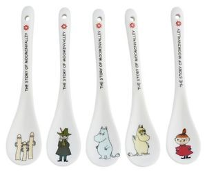 Yamaka-Moomin-5-Ceramic-Spoon-Set-MM280-126-New-Japan