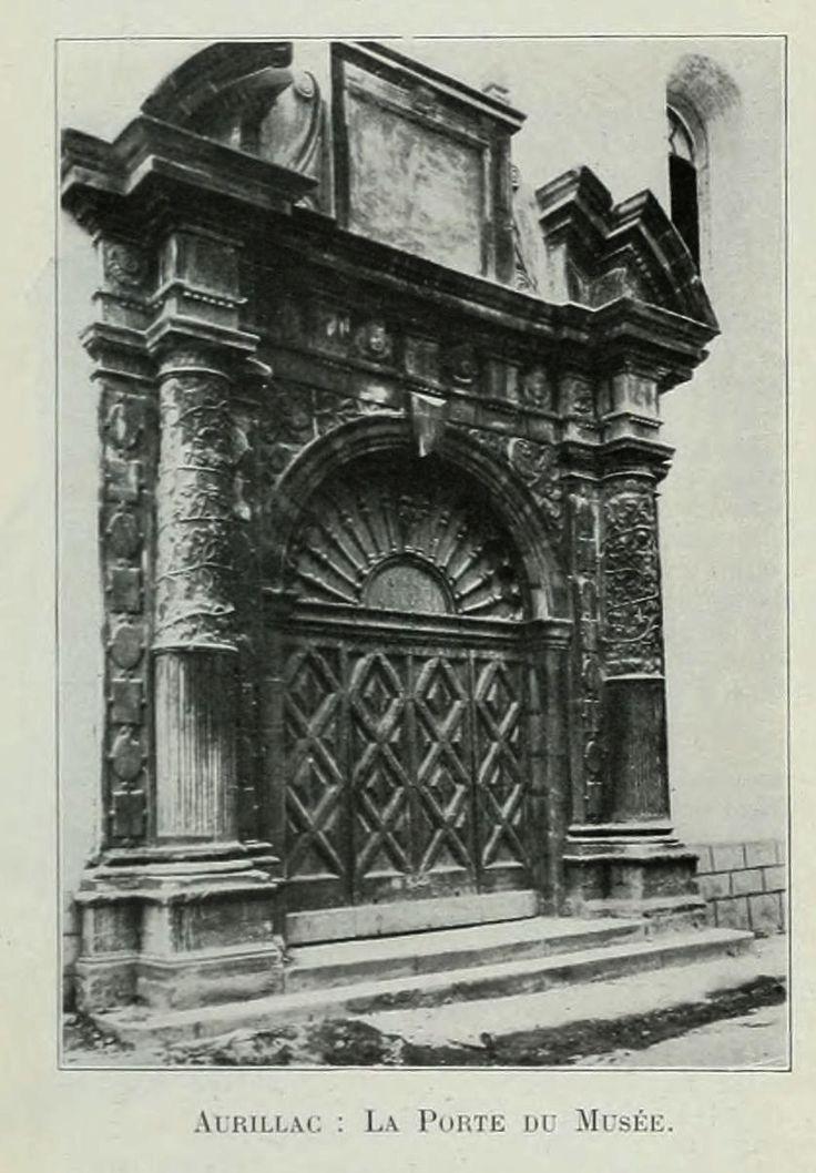 departement du Cantal - Vues de la France en 1900 - 1356 la porte du musee a Aurillac departement du Cantal - Gravures, illustrations, dessins, images