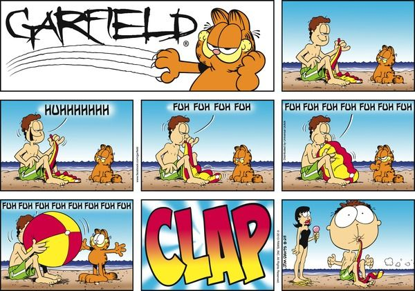 Garfield Strip from 25 Aug 2013 I'm pinning for the mischievous expression on Garfield's face :)