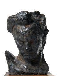 Artwork by Emile-Antoine Bourdelle, BEETHOVEN DIT BAUDELAIRIEN, MASQUE, Made of Bronze