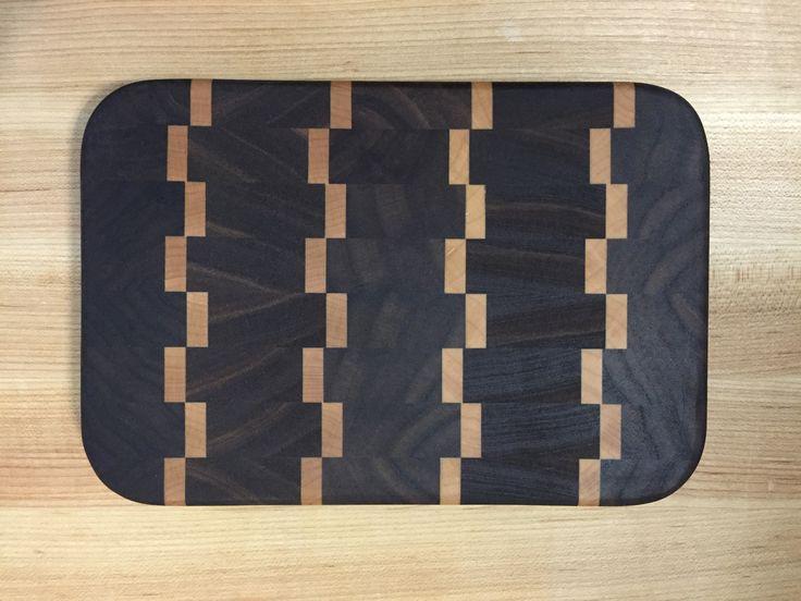 End-Grain Cutting Board -- Walnut and Maple