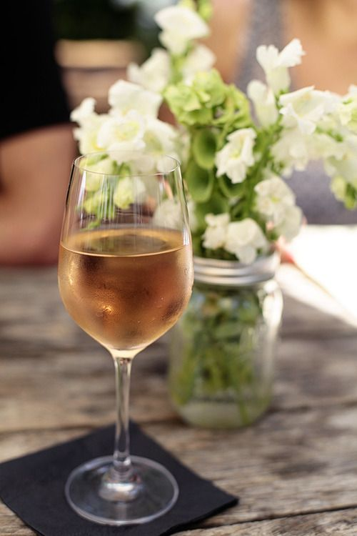 Flowers and white wine. Two of my biggest faves in one picture.