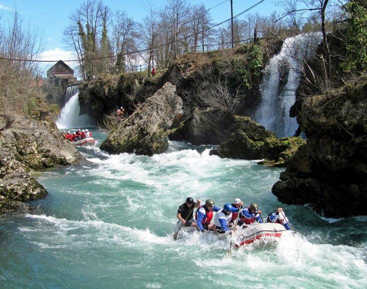 Vrbas rijeka.........The  rapids of river Vrbas near Banja Luka, Republika Srpska, Bosnia and Herzegovina
