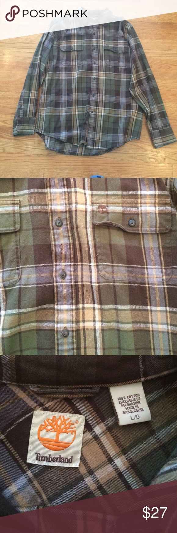 Timberland Flannel Button Down This is a brand new, never been worn, soft 100% cotton flannel shirt by Timberland. Size medium, classic fit (not snug like a modern fit). Timberland Shirts Casual Button Down Shirts