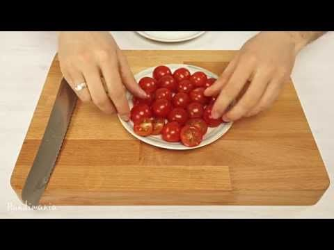 The Fastest Way to Slice Cherry Tomatoes