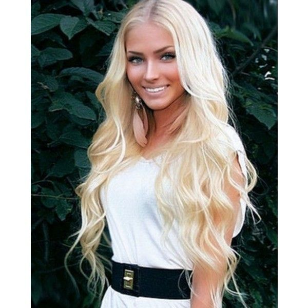 Megan Fox has a blond twin, Alena Shishkova Play4Movie ❤ liked on Polyvore featuring hair, alena y hairstyles