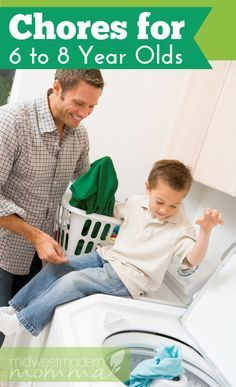 Age Appropriate Chores For 6 to 8 Year Olds
