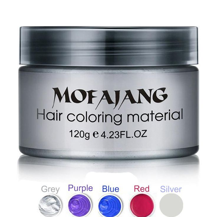 [Visit to Buy] Fashion Hair Styling Pomade Silver Ash Grandma Grey Hair Wax Men Temporary Disposable Hair Dye Coloring Mud Cream Drop Shipping #Advertisement