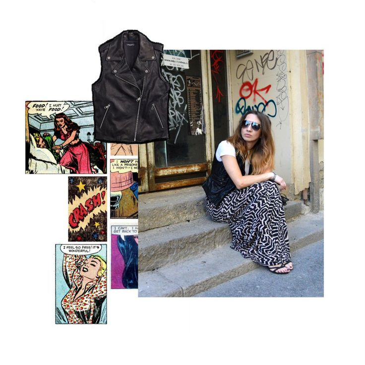 A moto vest is effortless and so should be a girl who wears it.#mtovest