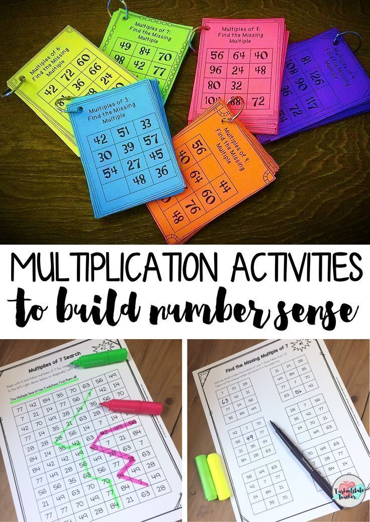 "Mastering multiplication facts got you scratching your head? Help students master multiplication by developing their ""count-by"" skills and number sense for multiples of numbers. Those 6, 7, 8, and 9 multiplication facts tables can be really tough to memorize! In these Multiplication Intervention Activities for Multiplying by 2's-12's, ""count-by"" activities help 3rd, 4th, and 5th graders master mult facts for 2's-12's--fun! ""Find Missing Multiple,"" ""Which Does Not Belong?,"" ""Multiples…"