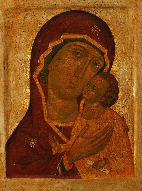 Mother of God and Child, eikon on display at Ballarat Art Gallery 18/10/2014-26/1/2015