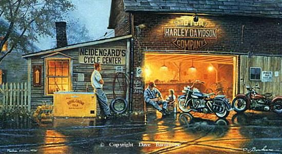 Motorcycle Art Motorcycle Paintings By Dave Barnhouse
