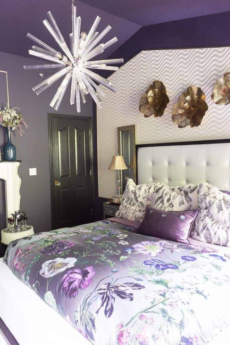 purple bedroom decorating ideas create a stunning master on cute bedroom decor ideas for teen romantic bedroom decorating with light and color id=52039