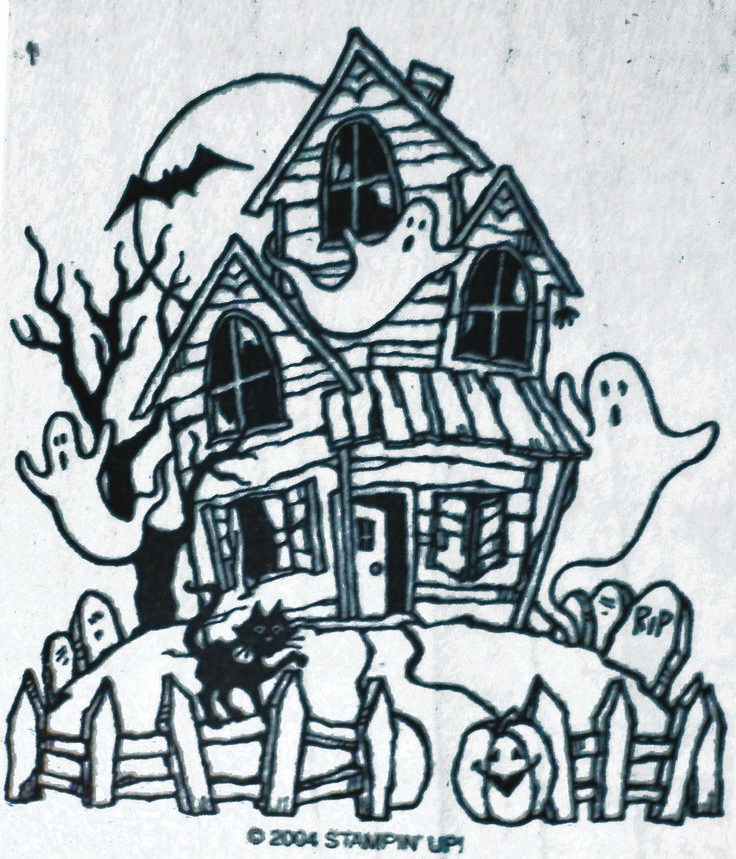 55 best northwoods images on pinterest stamping card Haunted house drawing ideas