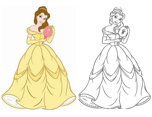 Disney Consumer Products Princess Style Guide Art On Behance Disney Princess Coloring Pages Princess Coloring Pages Cartoon Style Drawing